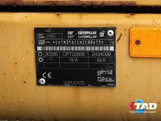 Колесный экскаватор Caterpillar M316C (2006 г), фото 2