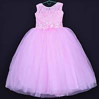 """Нарядное детское платье """"Букет"""". 6-7 лет. Розовое. Оптом и в розницу"""