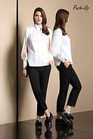 Белая блуза Noche Mio Avelino рубашечного типа
