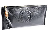 Женская кожаная косметичка 1203 Black косметички женские продажа оптом Одесса 7 км