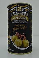 Оливки зеленые фаршированные анчоусами La Exsplanada 350 г