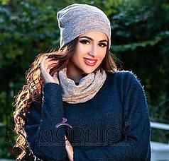 Шикарный комплект: шапка и шарф.