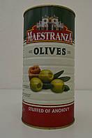 Оливки зеленые фаршированные анчоусами Maestranza 1500 г