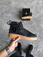 "Зимние кроссовки Nike Special Field Air Force 1 ""Black/Black/Gum Light Brown"""