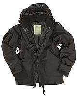 Куртка Mil-Tec непромокаемая с флисовой подстёжкой black