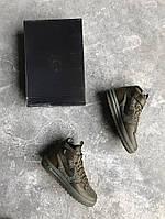 Зимние мужские кроссовки Nike Lunar Force 1 Flyknit Workboot Medium Olive