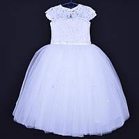 """Нарядное детское платье """"Юлиана"""". 6-7 лет. Белое. Оптом и в розницу"""