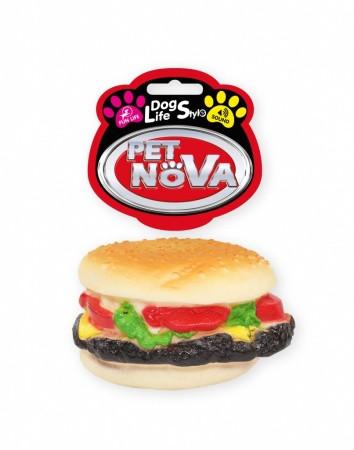 Іграшка для собак Гамбургер пищалка Pet Nova 9 см