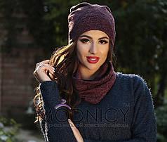 Женская шапка в расцветках.