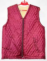 Тепла жіноча безрукавка з овечої вовни бордового кольору