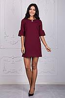 Оригинальное бордовое платье молодежного фасона размер:44,46,48,50