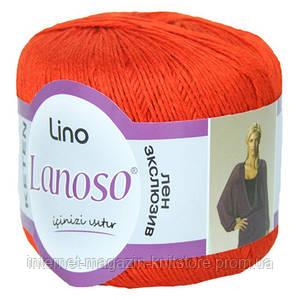 Пряжа Lanoso Lino морковный