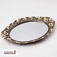 Поднос зеркальный бриллиантовая весна (35*26 см) 018MA металл