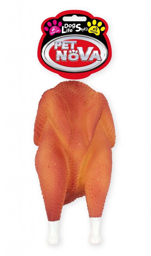 Игрушка для собак  Жареная курица Pet Nova 19 см