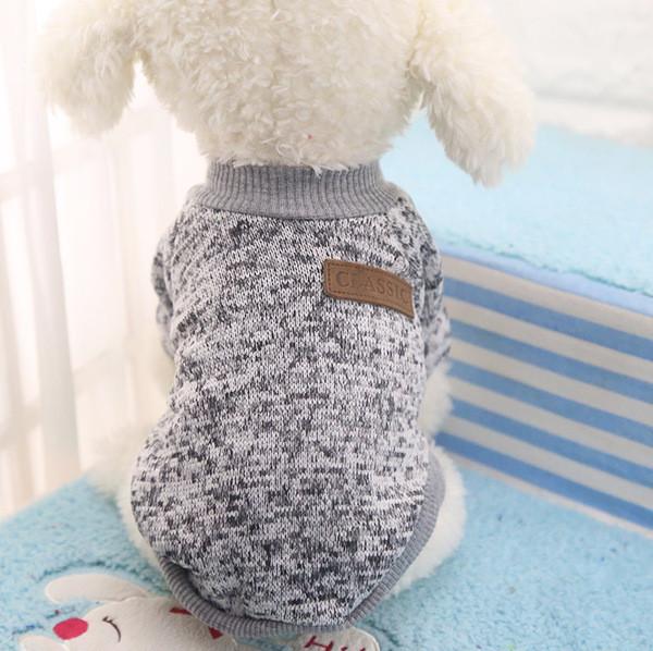Толстовка - свитер для собак L серая
