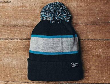 Зимняя шапка Staff с помпоном KS0028