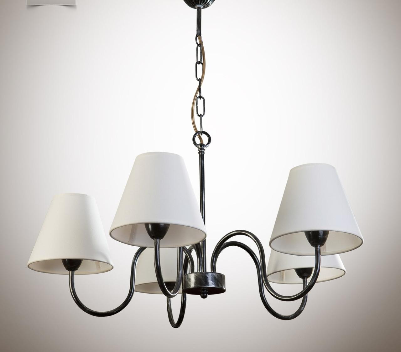 Люстра для спальни, зала, 5-ти ламповая, с абажуром 10505-3