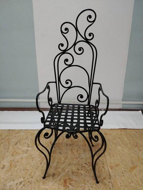 Кованый стул ручной работы -1