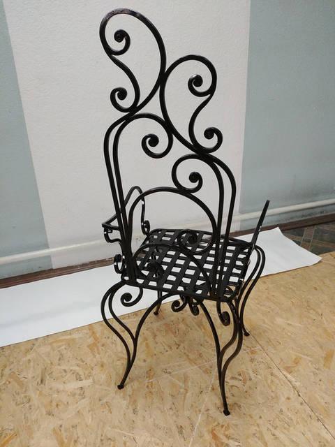 Кованый стул ручной работы 3