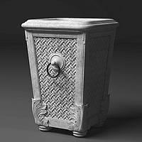 """Вазон декоративный из бетона для сада и террасы -""""Плетеная корзина""""(бетонный, уличный)"""