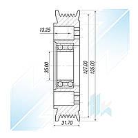 Шкив компрессора, VISTEON HCC VS-16, 6PK (PV6), 127,00/135,00 мм, Peugeot