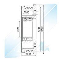 Шкив компрессора, FORD SC90V, 5PK (PV5), 97,00/107,00 мм, Ford