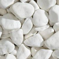 Мраморная галька белоснежная Тасос Вайт - Thassos White (Греция) (min 50кг)