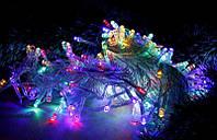 Гирлянда цветная 300 LED (100 лампочек) 8 режимов