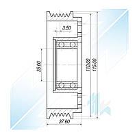 Шкив компрессора, DENSO 10PA17C, 6PK (PV6), 110,00/115,00 мм, BMW