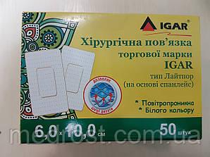 Пластырная повязка 6 х 10 см Лайтпор