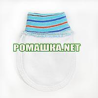 Варежки (царапки, рукавички, антицарапки) р. 56-62 для новорожденного ткань КУЛИР 100 % хлопок 3843 Бирюзовый