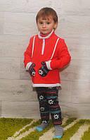 Костюм на меху для девочек (кофта+лосины)разные расцветки, фото 1