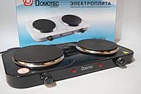 Электрическая плита Domotec 2 дисковая DT-1012  2000w, фото 1