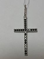 Серебряный крест (арт. 02-П40109ч)