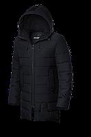 Мужская черная зимняя длинная куртка KIRO TOKAO (р. 48-56) арт. 1708 F
