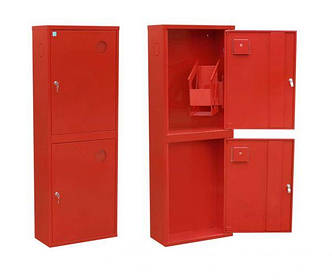 Шкаф пожарный ШПК-321 НО навесной с задней стенкой под 2 рукава 1200х600х230 мм
