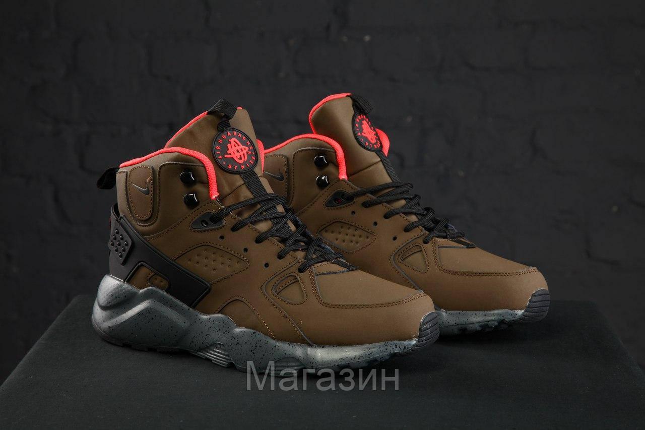 994b964e Мужские зимние кроссовки Nike Huarache Winter Зимние Найк Аир Хуарачи хаки  - Магазин обуви New York