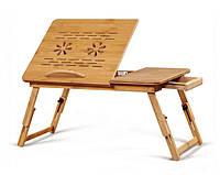 Стол для ноутбука из бамбука. Подставка под ноутбук