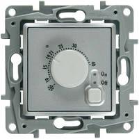 Термостат с датчиком для теплого пола, алюминий - Legrand Etika (Код: 672430)