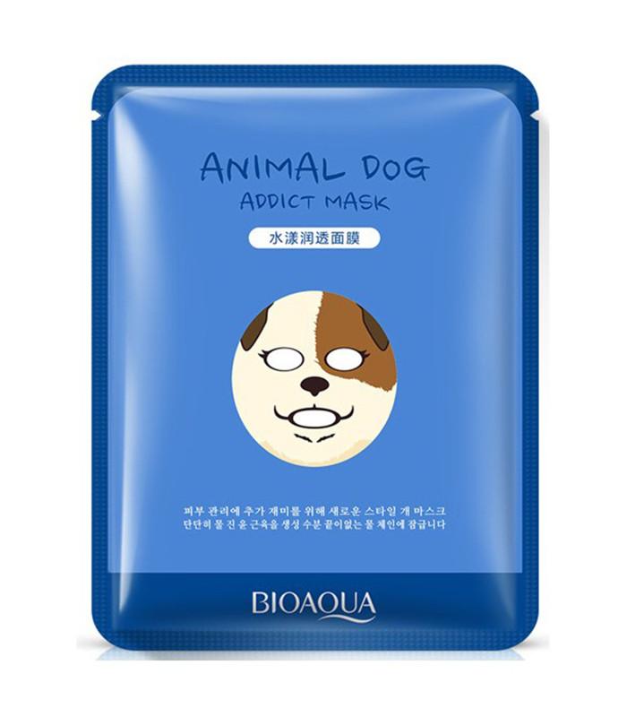 Увлажняющая тканевая маска для лица с принтом Собачка BIOAQUA Animal Dog Addict Mask