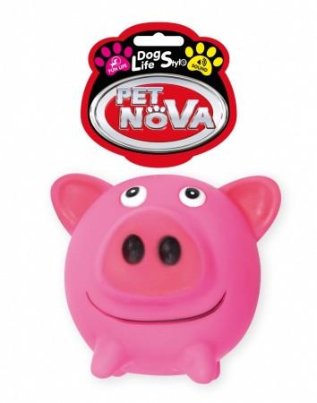 Игрушка для собак Свинка круглая Pet Nova 10 см