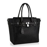 Новинка черная сумка в стиле Hermes