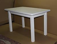 Стол обеденный КЛАССИК 140(+50) белый