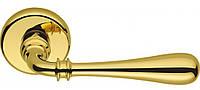 Ручка дверная на розетке Colombo Ida ID 31 полированная латунь (Италия)