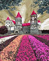 """Картина раскраска по номерам """"Заколдованный замок"""" набор для рисования"""