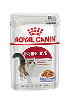 Корм для привередливых котов в желе, пауч, Instinctive, 85 г