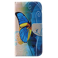 Чехол книжка TPU Wallet Printing для Doogee X5 Max Pro Blue Butterfly