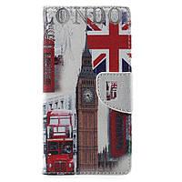 Чехол книжка TPU Wallet Printing для Doogee X5 Max Pro Big Ben and UK Flag