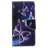 Чехол книжка TPU Wallet Printing для Doogee X5 Max Pro Vivid Butterflies