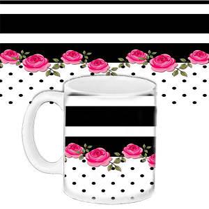 Кружка подарок с принтом Розовый розы